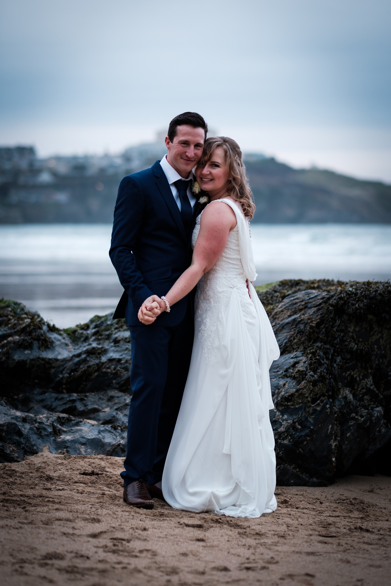 couple beach wedding love