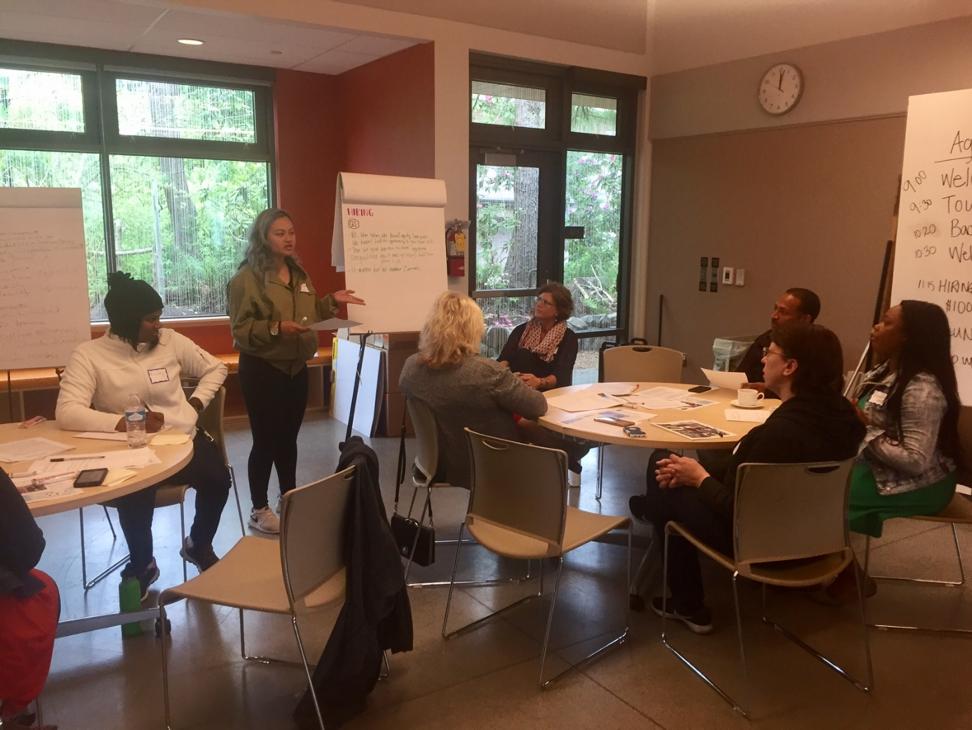 Bridges Alumni participating in focus group discussions with Metro & Momentum Alliance.