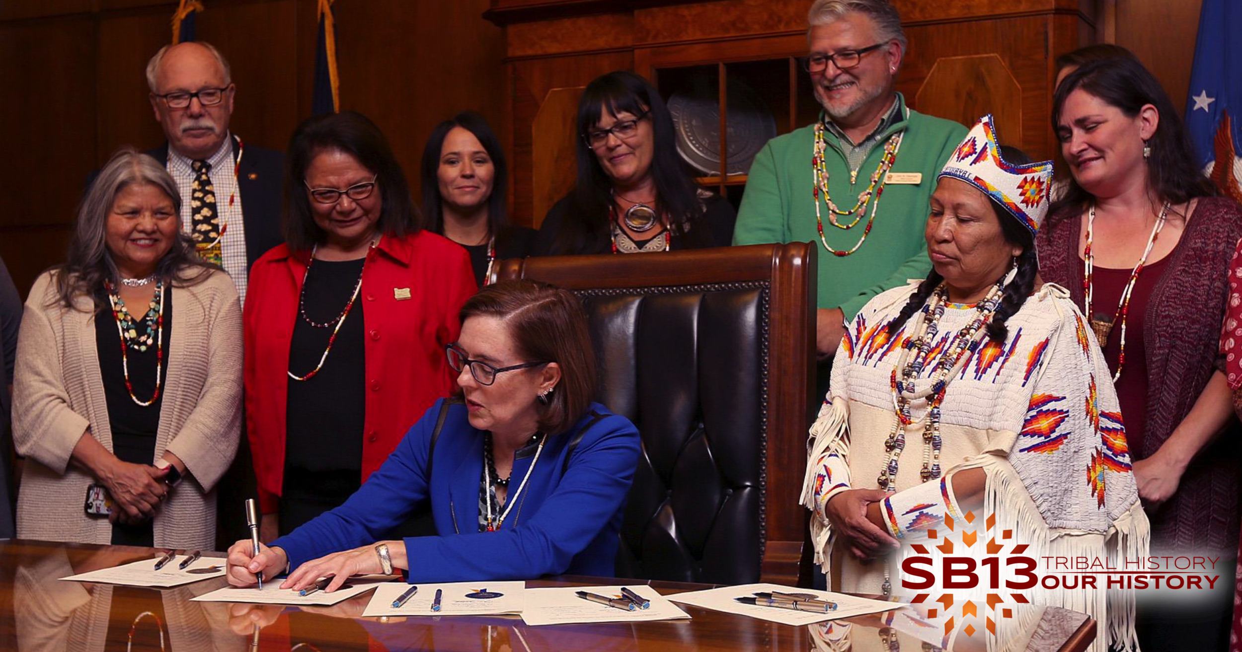 Senate Bill 13 Signing Ceremony with Governor Brown, Native Education Advocates & Tribal Leaders