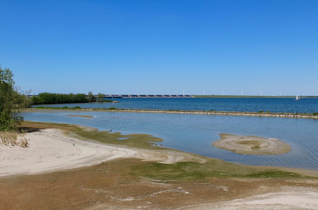 Het uitzicht vanuit vogelspot Tij: waar water en land elkaar zowel hard als zacht ontmoeten.