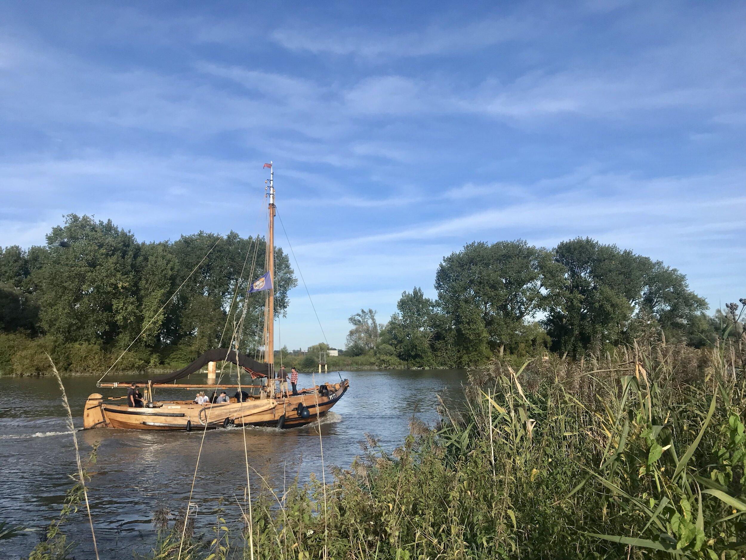 boot tour antiek schip op de schelde