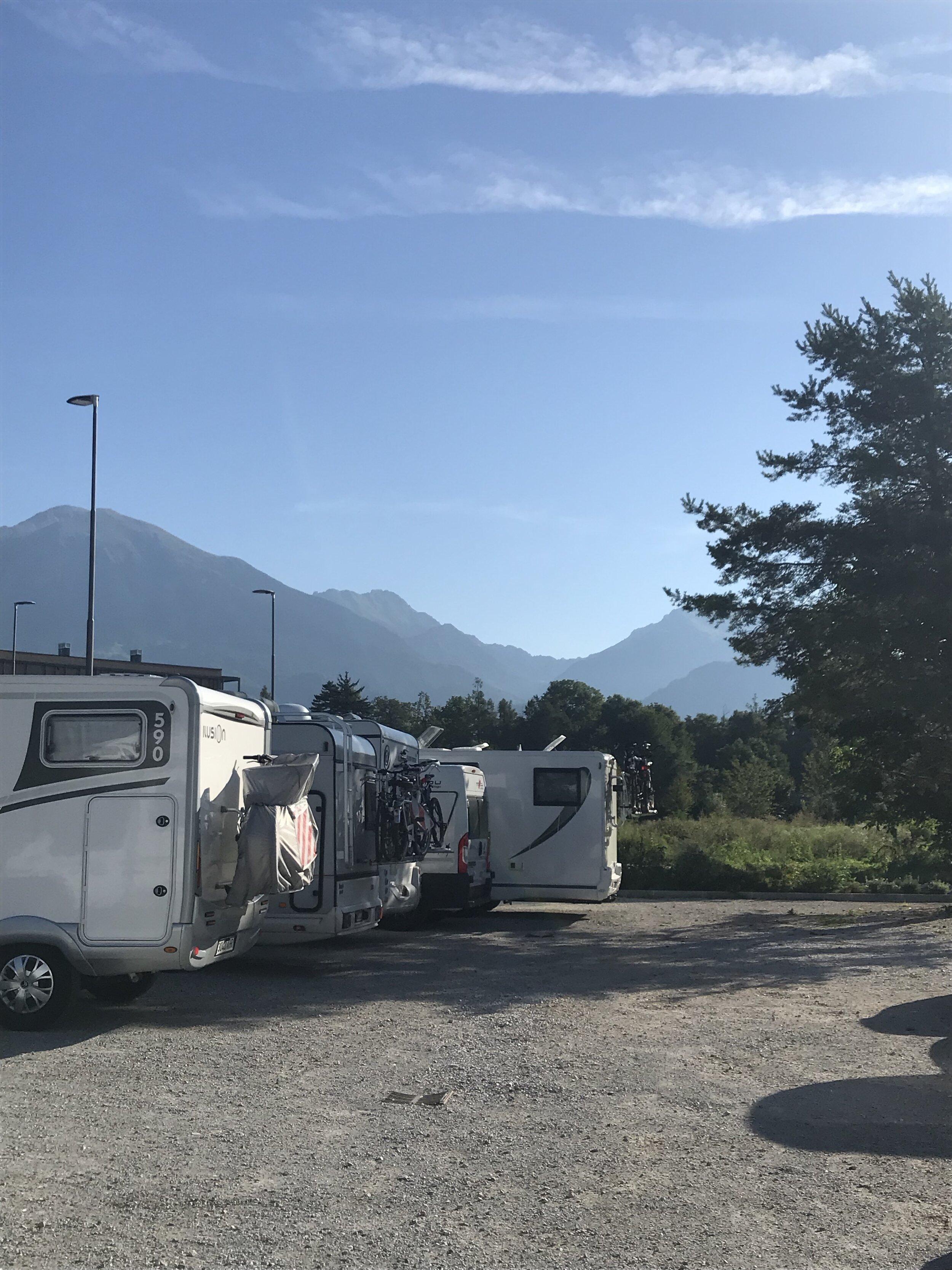 Camper parking in Bled.