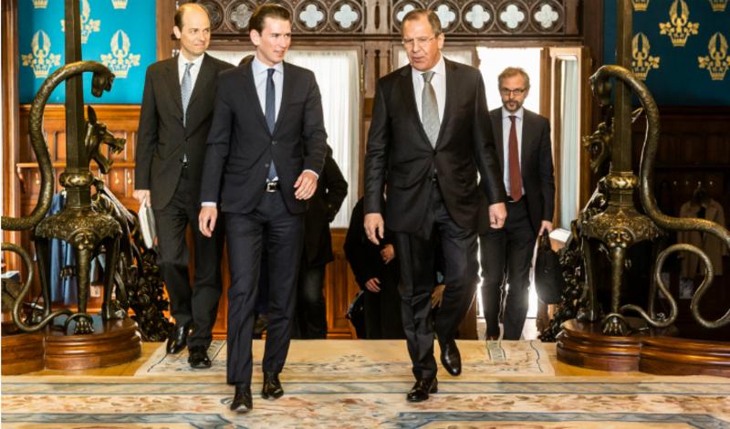Außenminister Sebastian Kurz trifft den russischen Außenminister Sergej Lavrov in Moskau. 5. April 2016. Bild:Dmitriy Mernov
