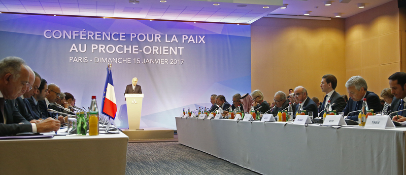 Außenminister Sebastian Kurz bei der Nahost-Friedenskonferenz in Paris. 15. Jänner 2017. Photo: Dragan Tatic