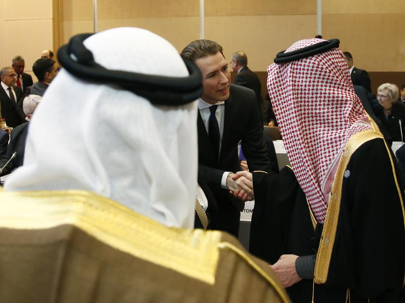 Außenminister Sebastian Kurz bei der Nahost-Friedenskonferenz in Paris. 15. Jänner 2017 Photo: Dragan Tatic