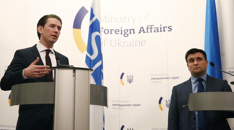 Pressekonferenz mit Ukrainischem Außenminister Pavlo Klimkin. Photo: Dragan Tatic
