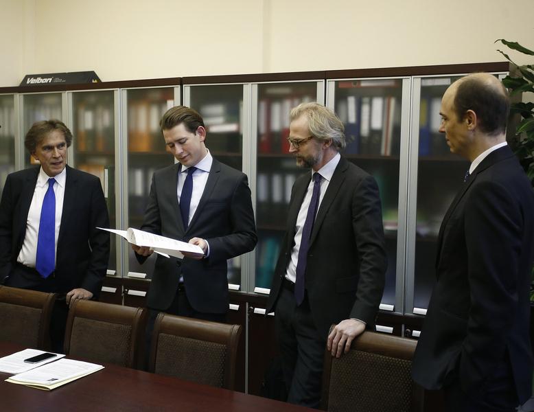 Außenminister Sebastian Kurz in Moskau. 17. Jänner 2017. Photo: Dragan Tatic