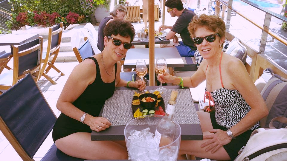 Our Mystery Date at Dream Hotel NYC Downtown poolside. Cheers!