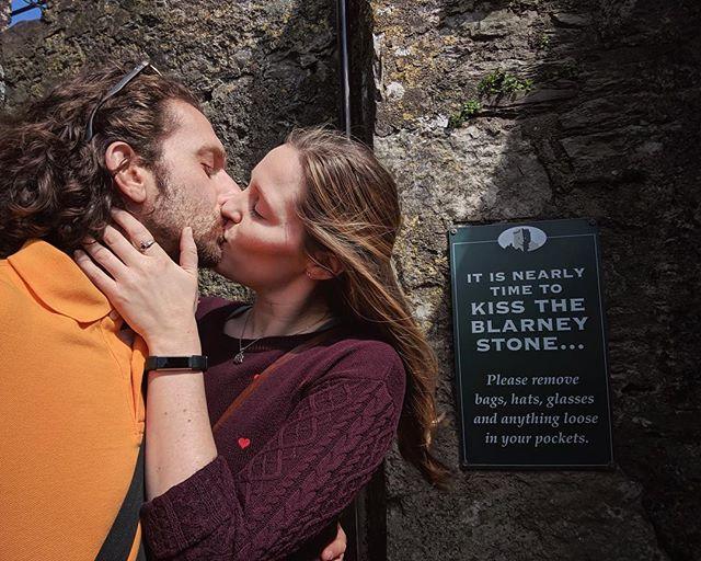 Gettin' Ready 🥰☘️🇮🇪😘 * * * * #latergram #twodaysago #travel #ireland #blarney #blarneystone #kiss #kisstheblarneystone #gettinready #kisseachotherfirst #silly #fun #explorenewplaces