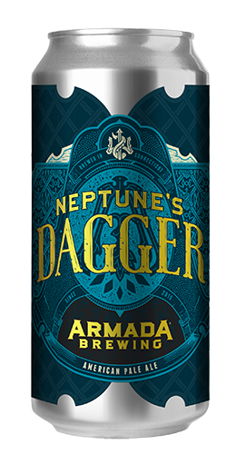 Neptune's Dagger American Pale Ale 5% 35 IBU  Soft and Delicate Pale Ale Dry Hopped with Motueka, Cascade and Mosaic
