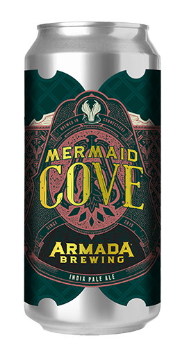 Mermaid Cove India Pale Ale 7% 60 IBU's  The Myth the Legend, Double Dry Hopped with Straight up Galaxy.