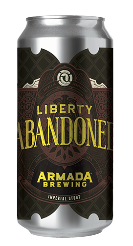 Liberty Abandoned Russian Imperial Stout 10% 50 IBUs  Rich and Roasty Stout Brewed with Muscovado Dark Brown Sugar.