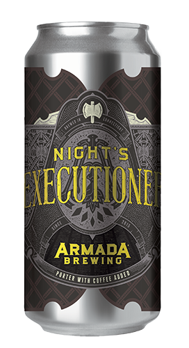 Night's Executioner Coffee Porter 5.5% 25 IBUs  Light, roasty and crushable Porter with a medium roasted Kenyan coffee from Willoughby's Coffee in Branford CT