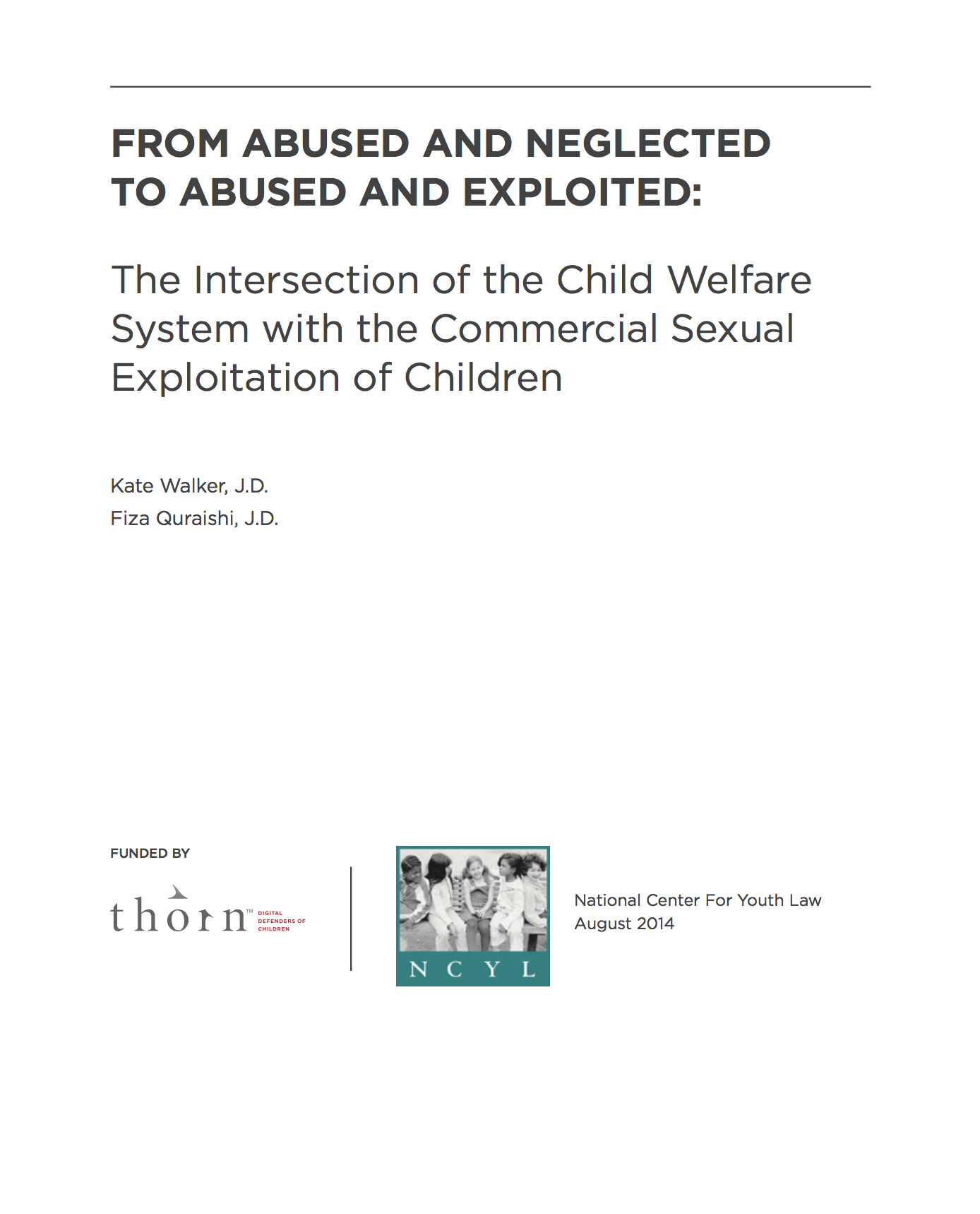 Intersection of the Child Welfare System & CSEC