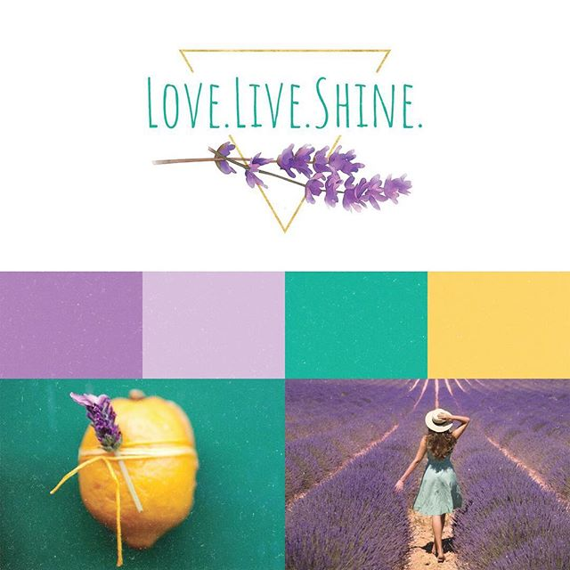 A closer look at the @love.live.shine.shop logo, colors and inspiration images! 🍋💜🌼 . . . Love.Live.Shine creates #allnatural #organic meditation sprays, oil rollers and bath bombs, that are #handmade with love 🌿 . . . #webdesign #graphicdesign #freelance #girlboss #essentialoils #meditation #oilroller #packagedesign #squarespace #squarespacedesign #customwebsite #boutique #logo #logodesigner #inspirationboard #moodboard #lavender #lemon #branding #branddesign #branddevelopment
