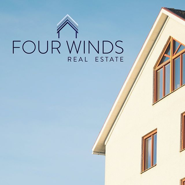 New logo design for Four Winds Real Estate! She wanted a minimalistic design that portrayed the company as elevated, knowledgeable, honest, and communicative. 🏡🔑 . . . . #logodesign #logodesigner #realestatelogo #realestatelogodesign #girlboss #smallbizowner #squarespacedesigner #squarespace