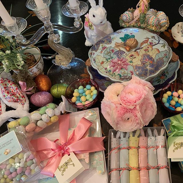 Happy Palm Sunday! I love Easter have gathered all my Bunny gear for family Easter at El Dorado now need to pack it up ! 🐰🌷🐰🌷🐰🌷🐰🌷@suefisherking best gifts !  #eastercountdown #oneweekuntileaster