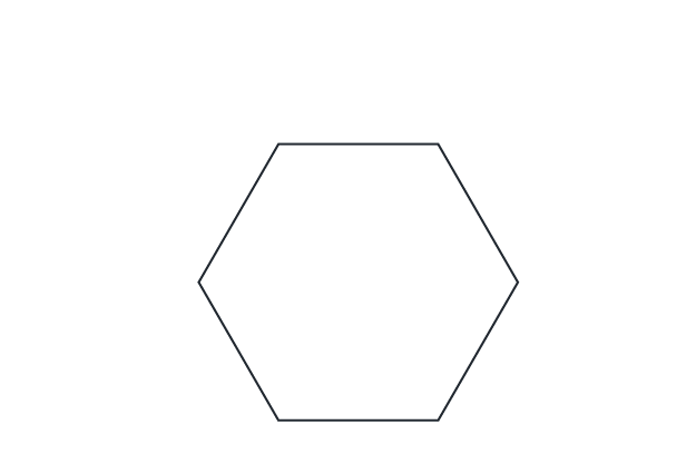 """HEX #7  POINT-TO-POINT: 9""""  FLAT EDGE TO FLAT EDGE: 8"""""""