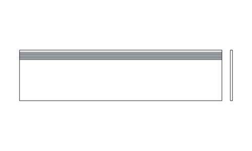 12 x 48 TV STAIR TREAD STRAIGHT EDGE