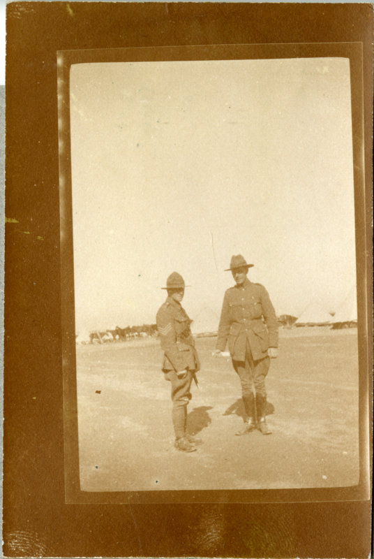 Two Officer's at camp