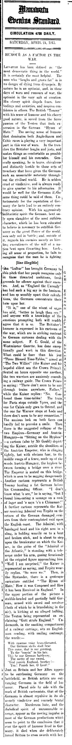Manawatu Standard, Volume XLI, Issue 10053, 24 April 1915, Page 4