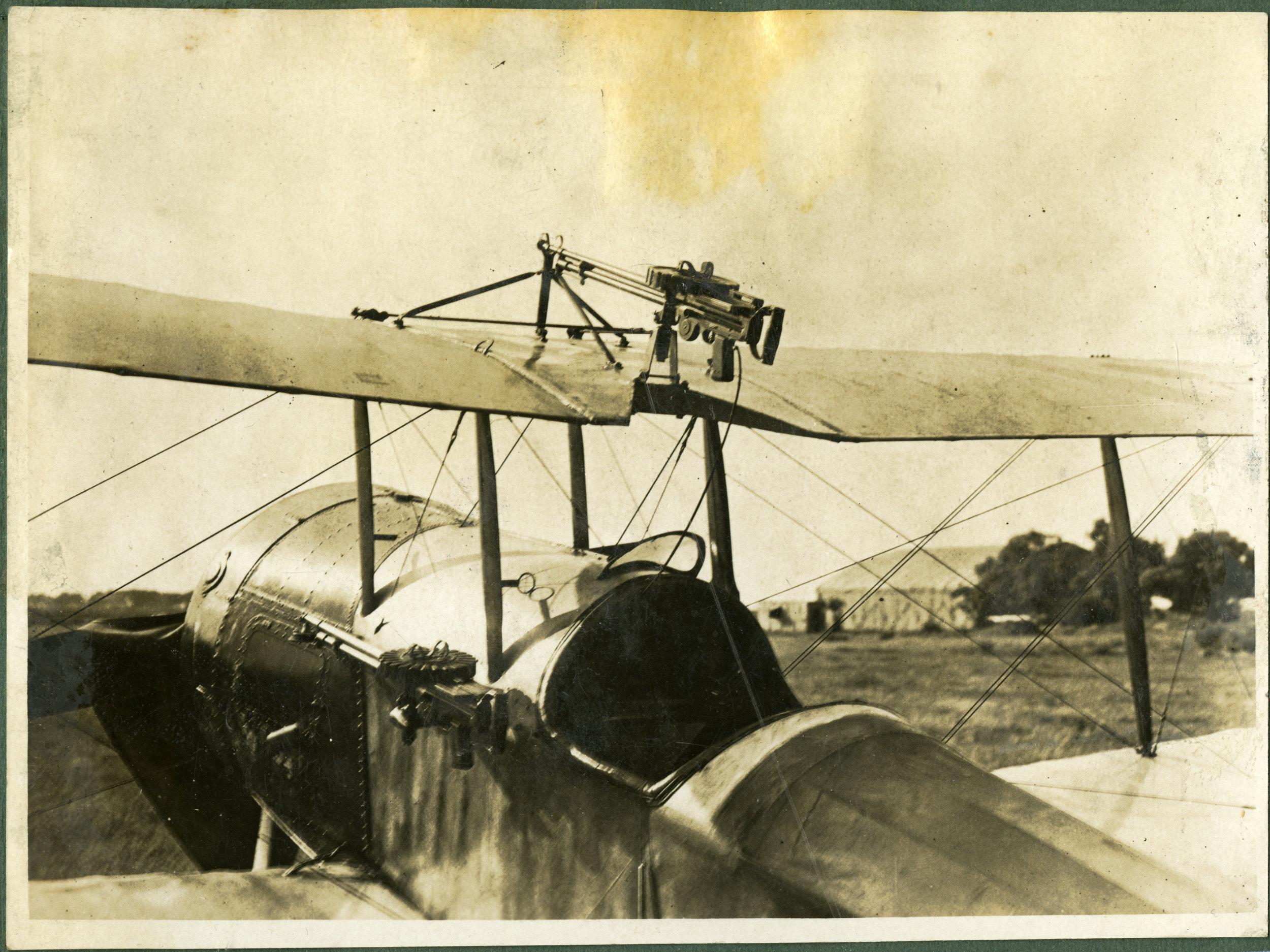 """Bristol Stout showing overhead gun mounting"""