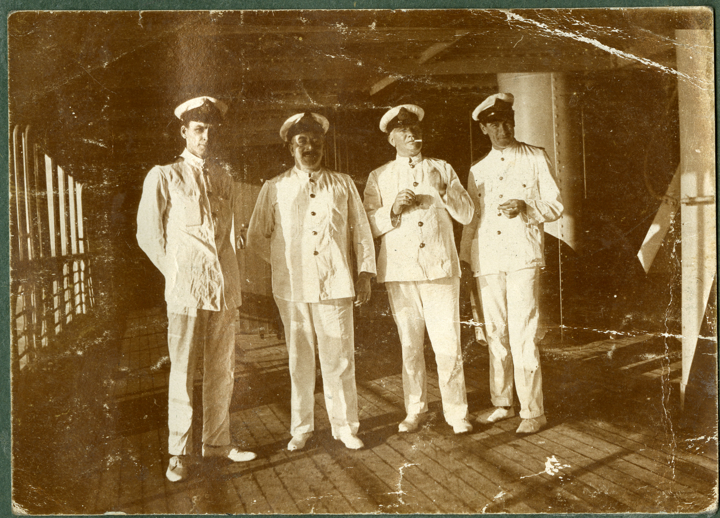"""Ships Officers. HMT Athenic."""