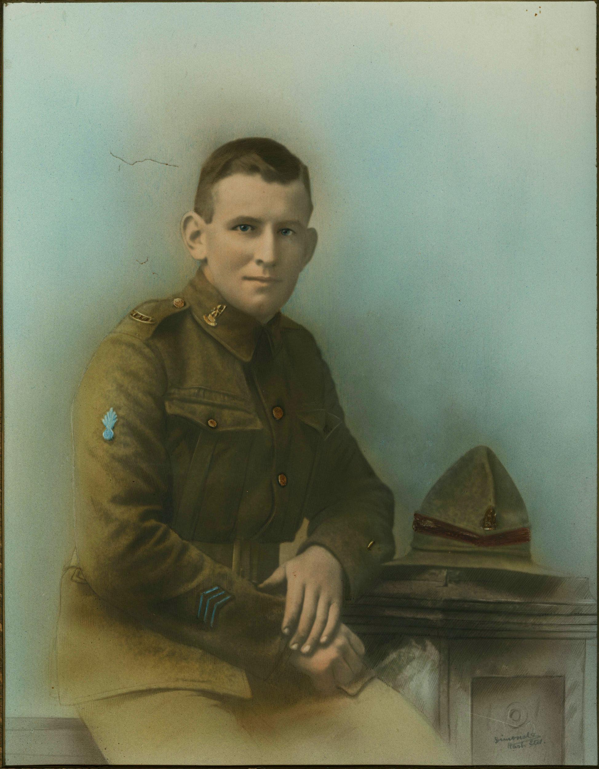 John Leo O'Keefe - this is one of several large colour portraits of John Leo O'Keefe.