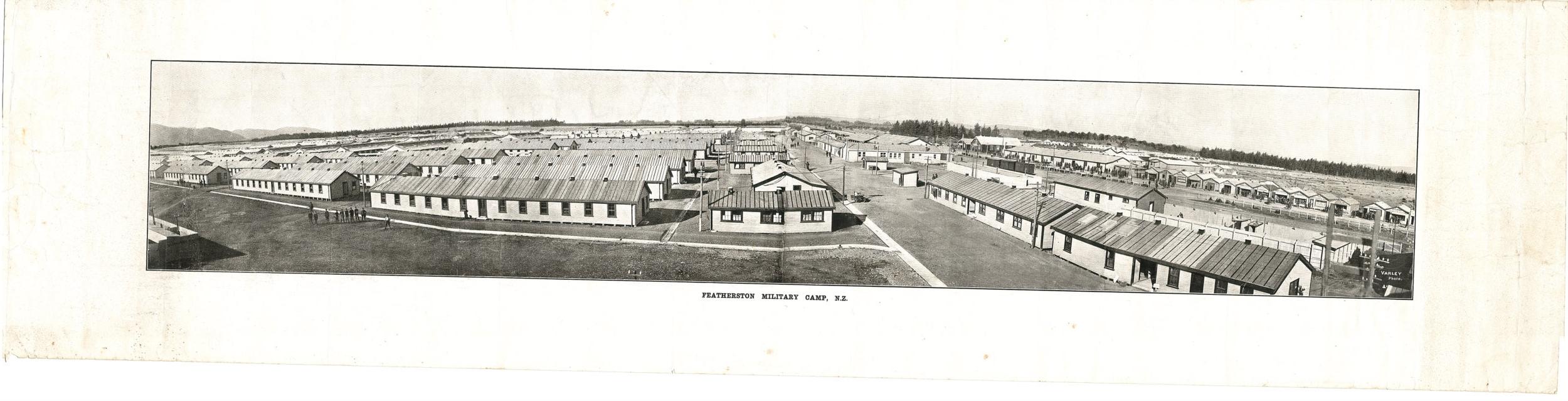 Featherston Military Camp Panorama, c 1914-1918.