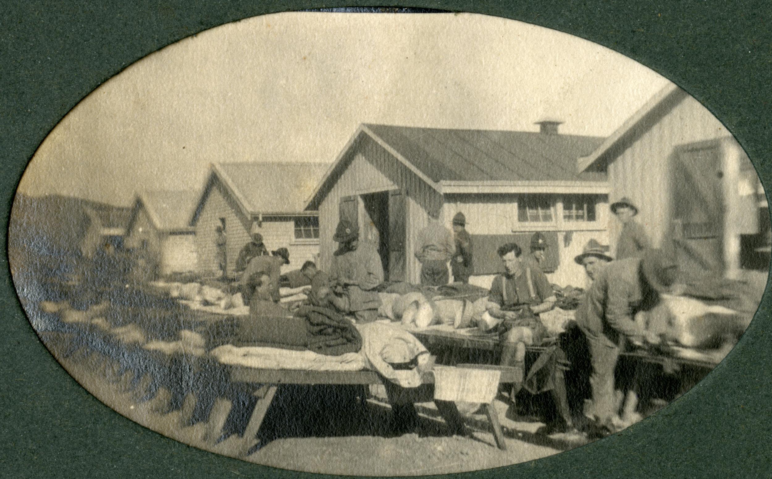 OUtside the barracks