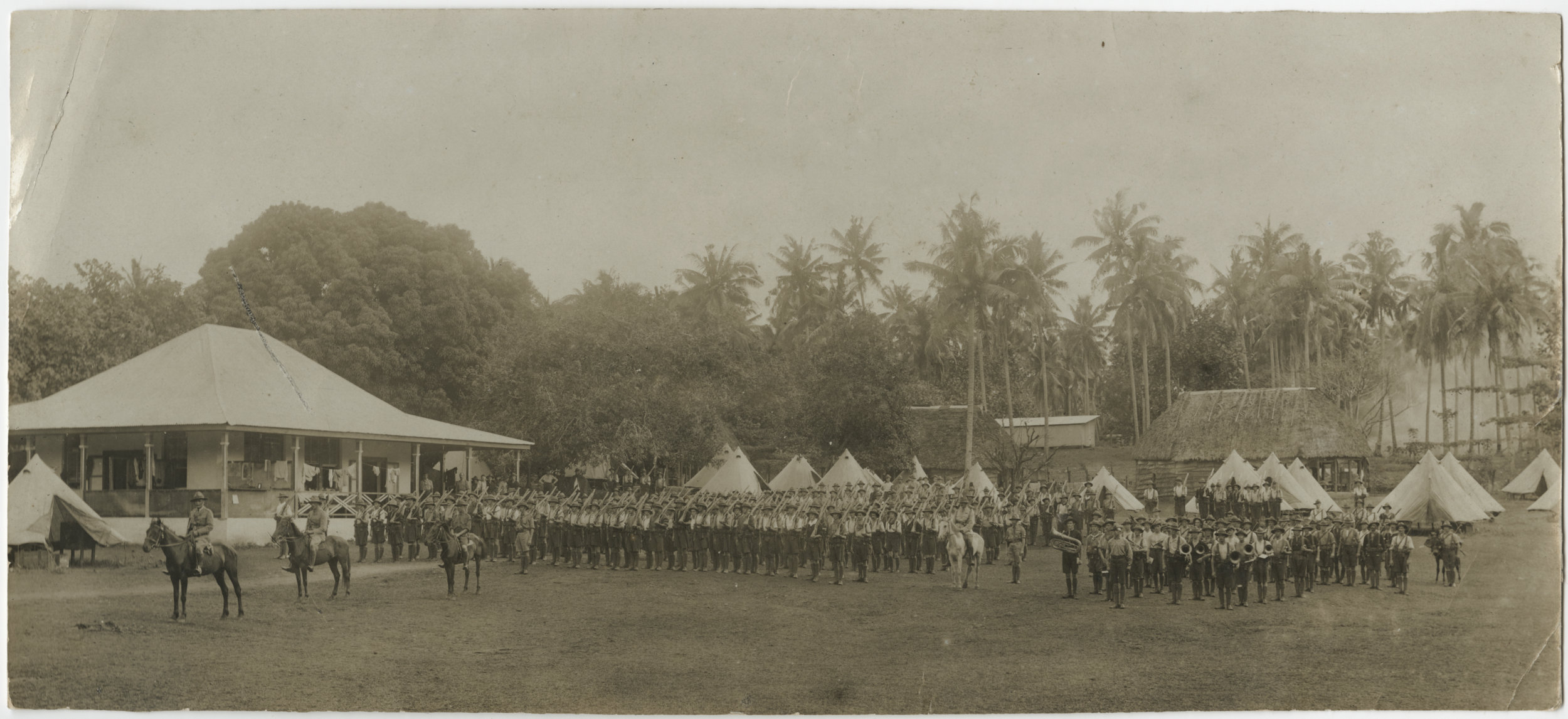 Troops in formation