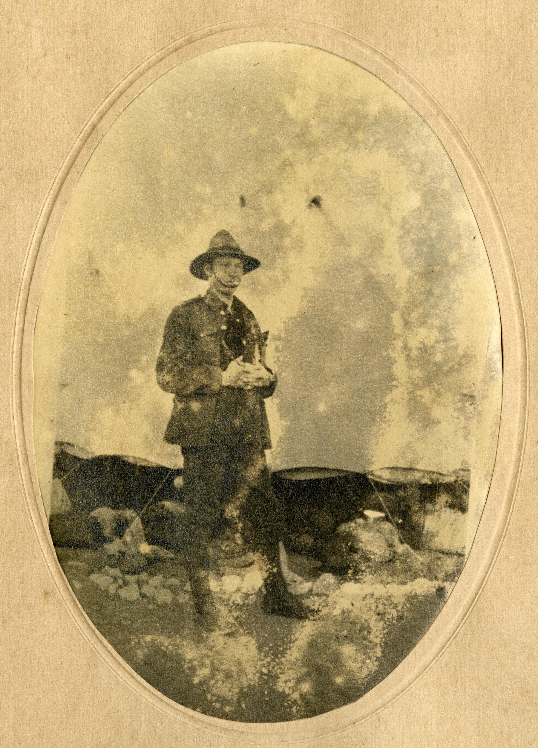 H.H. Mackrell in Egypt, prior to Gallipoli