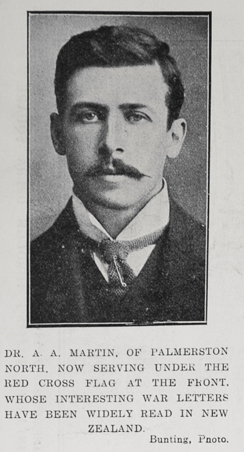 Figure 3: A photograph of Dr Martin appearing in the Auckland Weekly News on 11 February 1915. Reference: Sir George Grey Special Collections, Auckland Libraries, AWNS-19150211-38-1