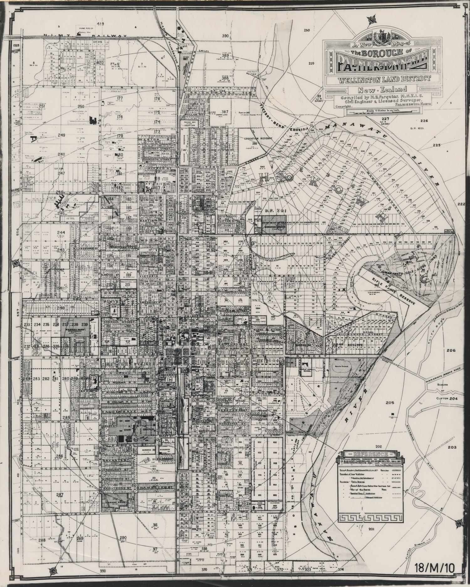 Map of Palmerston North early 1924. To view the full size image,  please view on our digital library Pataka Ipurangi: Manawatu Memory Online