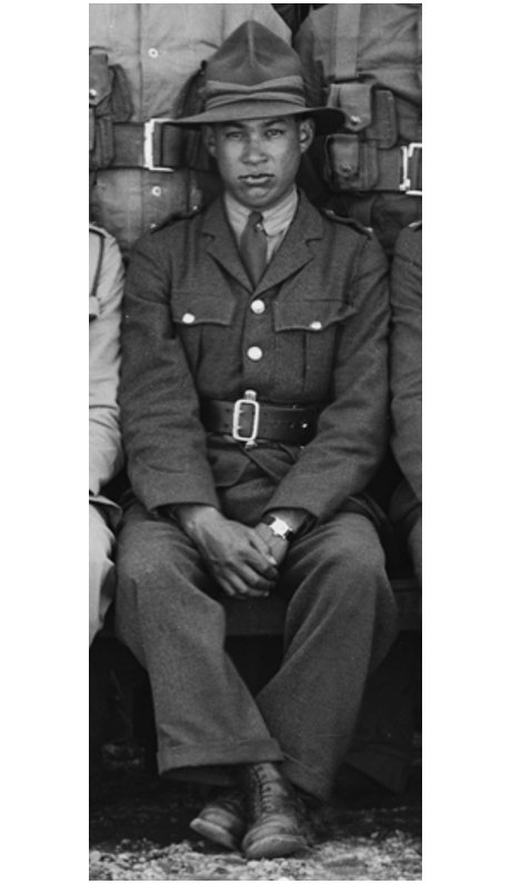 Figure 3: 2nd Lieutenant Te Punga while at Palmerston North camp as part of the first intake of men for the 28th Māori Battalion., 1940. Source: Museum of New Zealand Te Papa Tongarewa, 'Maori Battalion HQ', Richard John James Thomson (photographer). Accessed 28 September 2016. URL:      http://collections.tepapa.govt.nz/
