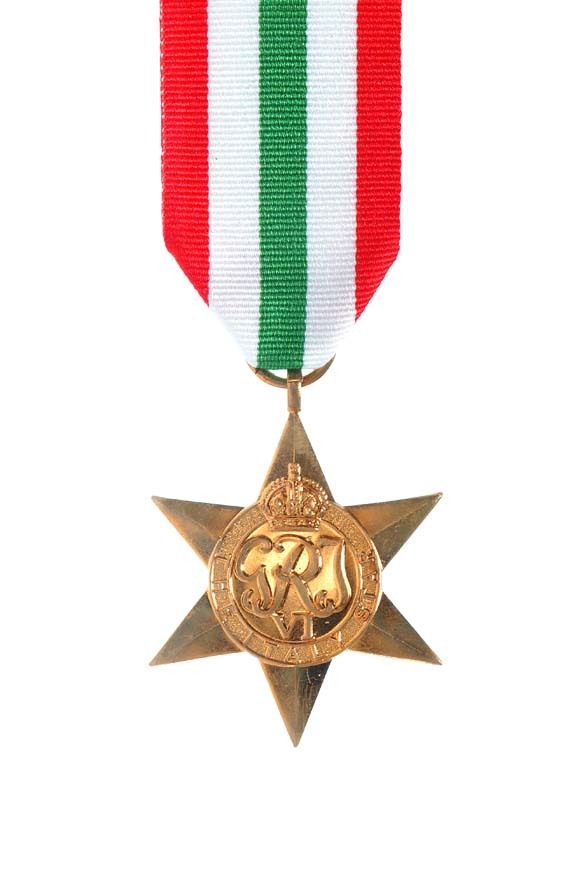 Figure 7: Obverse view of the Italy Star. Source: NZDF website, 'British Commonwealth War and Campaign Medals Awarded to New Zealanders – The Italy Star'. Accessed 20 September 2016. URL:      http://medals.nzdf.mil.nz/category/h/h15.html