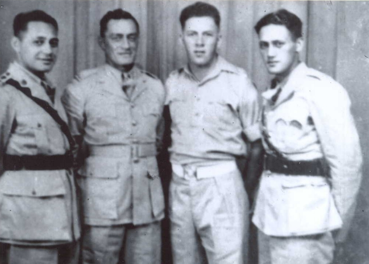 Figure 7: From left to right - WI Patene Anaru, Walter Downs Piiti Wordley, Jerry Smith & Moana Nui-a-Kiwa Ngarimu, VC. Source: Auckland Museum – Online Cenotaph. Accessed 15 September 2016. URL:      http://www.aucklandmuseum.com/war-memorial/online-cenotaph/record/C35248