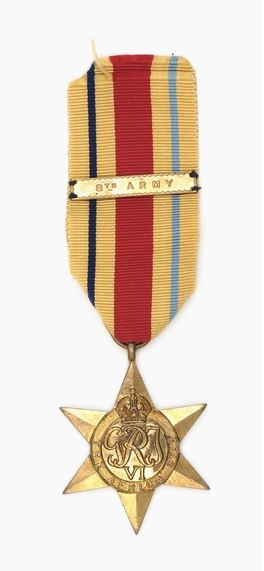 Figure 8: The Africa Star, with 8th Army Clasp. Source: Australian War Memorial website. Accessed 9 September 2016. URL:      www.awm.gov.au