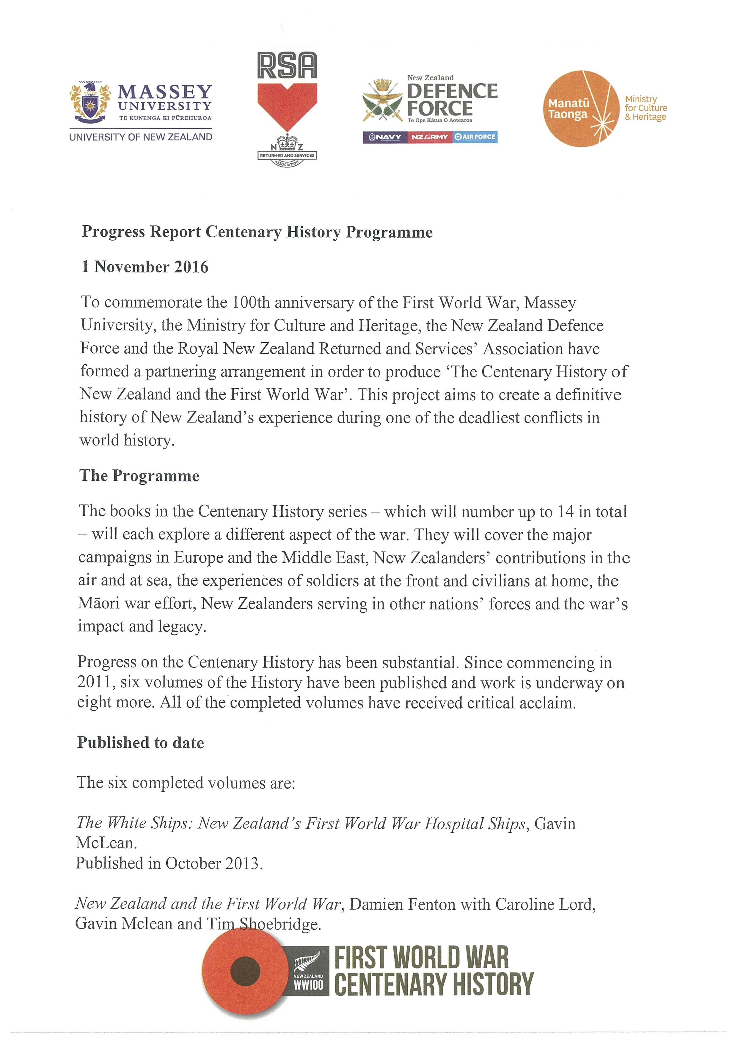 Updated Progress Report