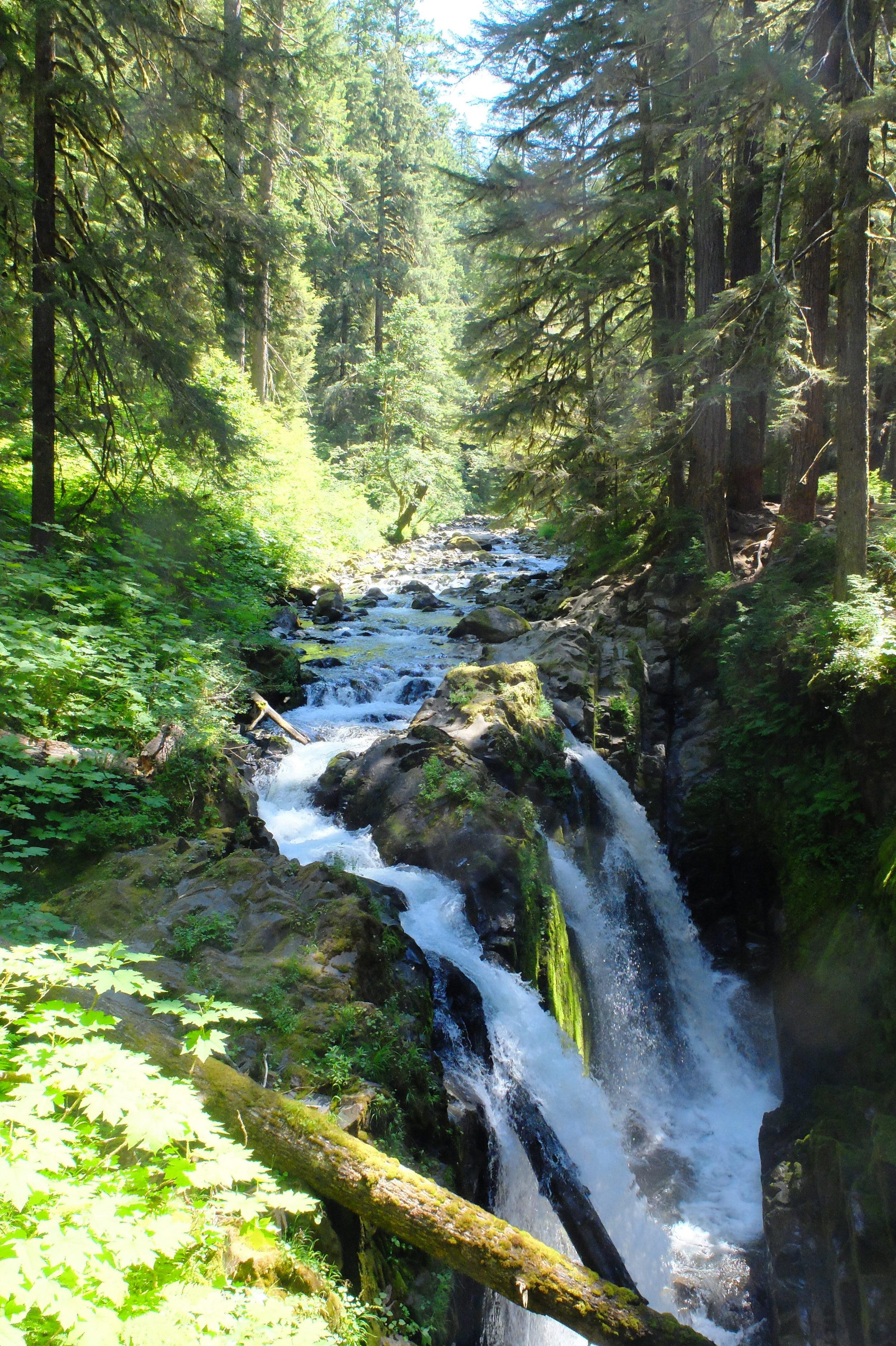 Waterfall, on the way to Deer Lake