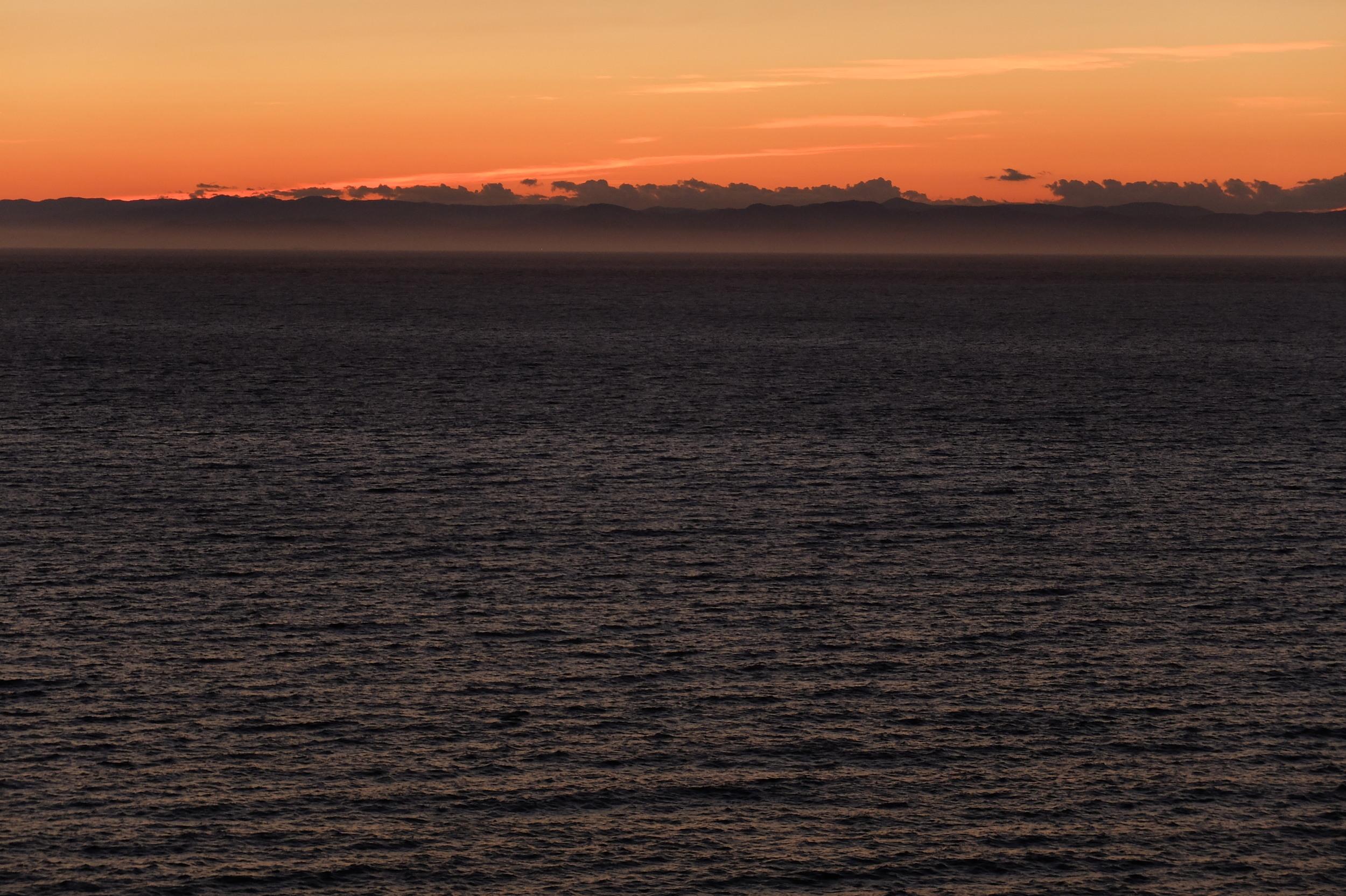 sunset near olympic national park