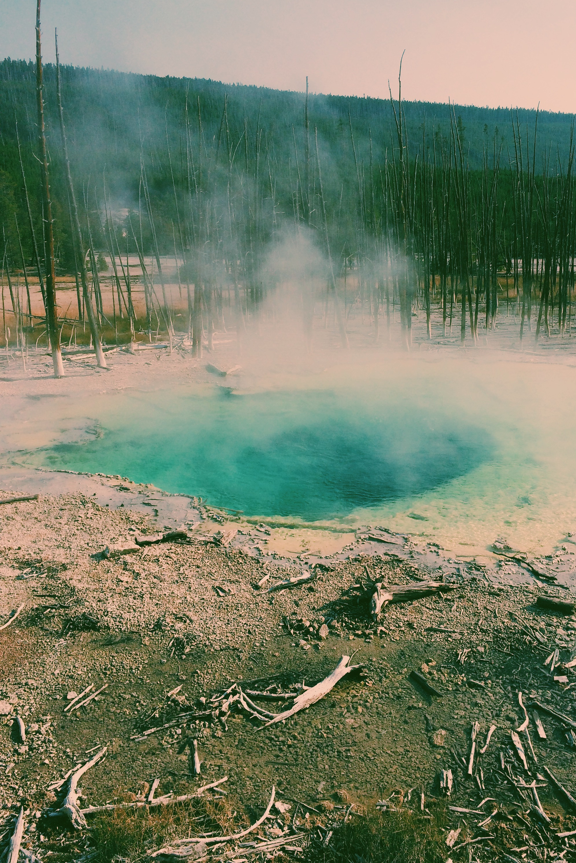 The geysers were so blue