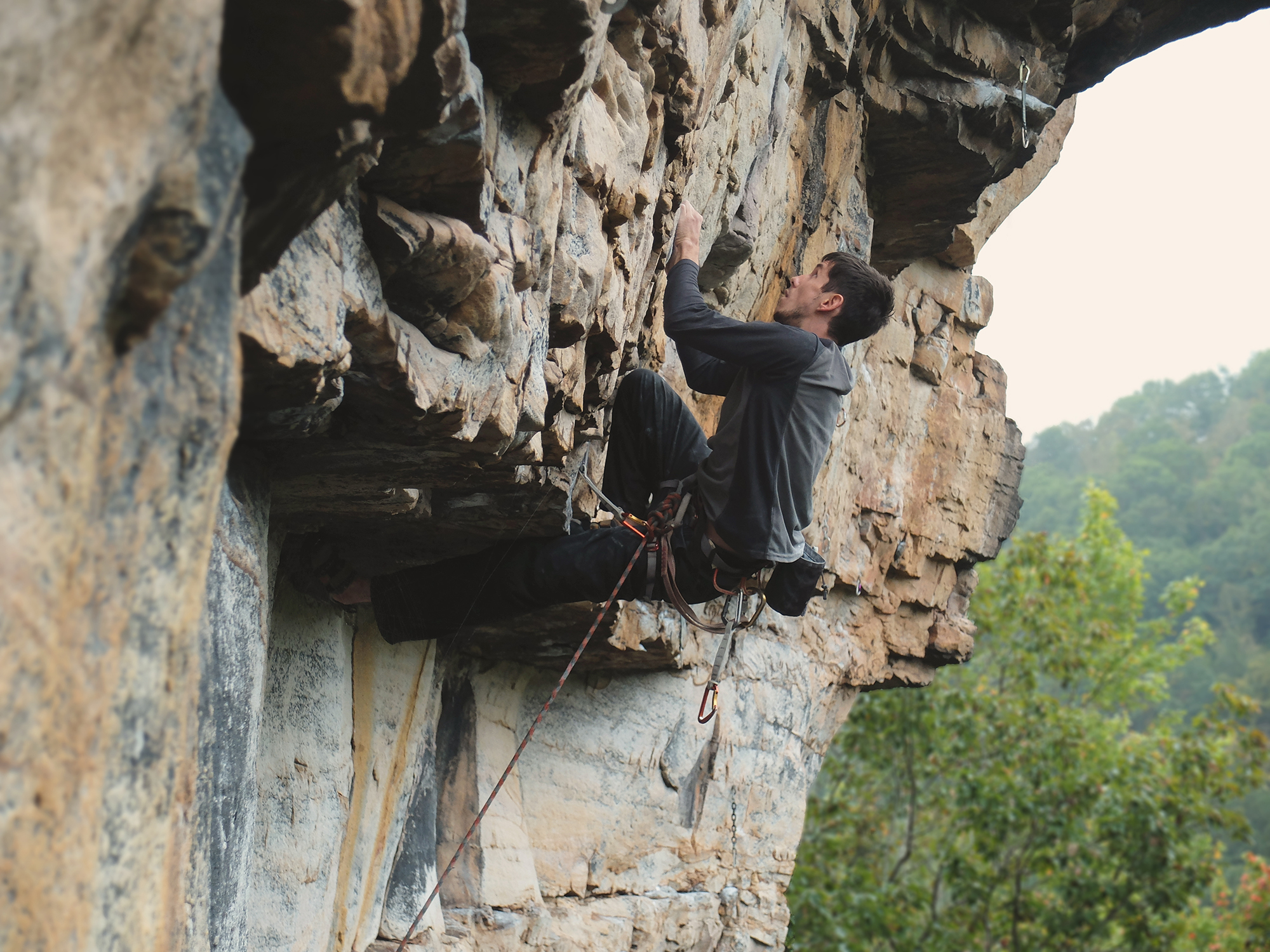 That time Michael cruised up Push (12a) at First Buttress in the Meadows