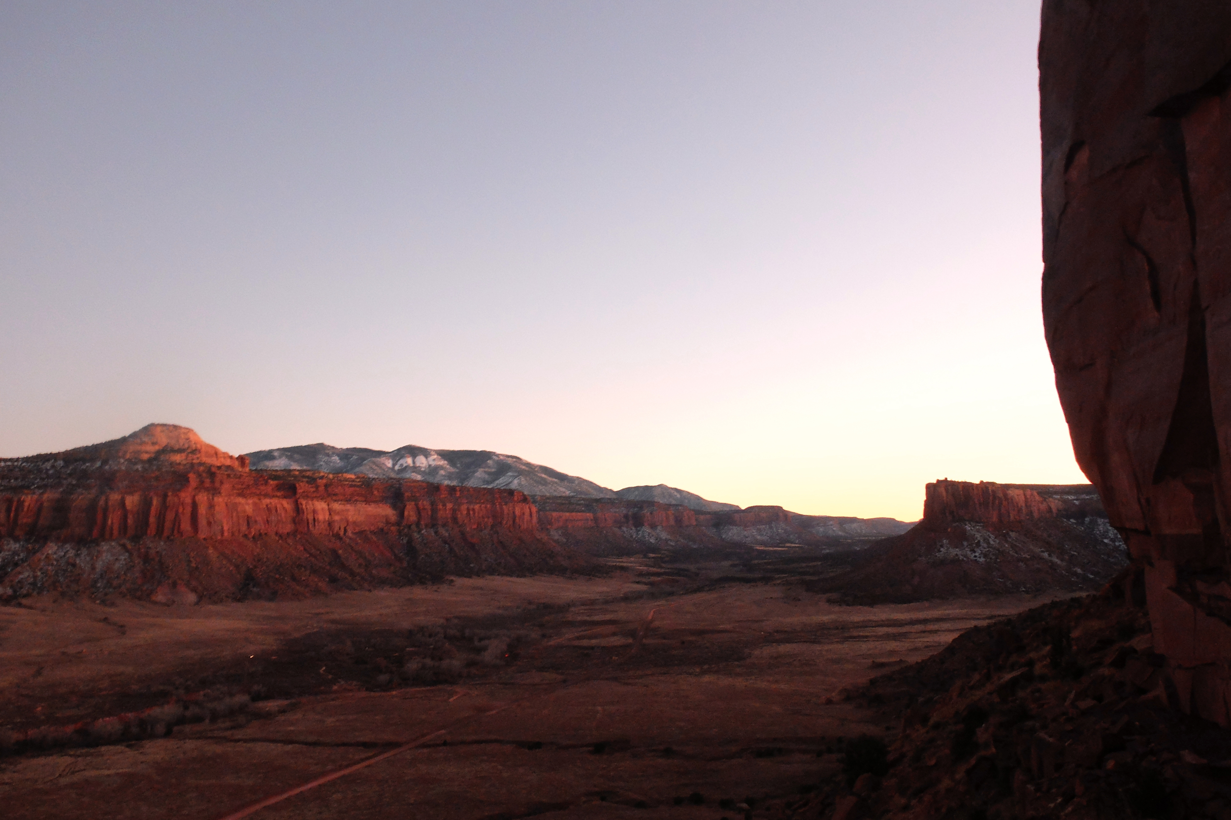 Sunset from the sparks wall, Indian Creek, UT
