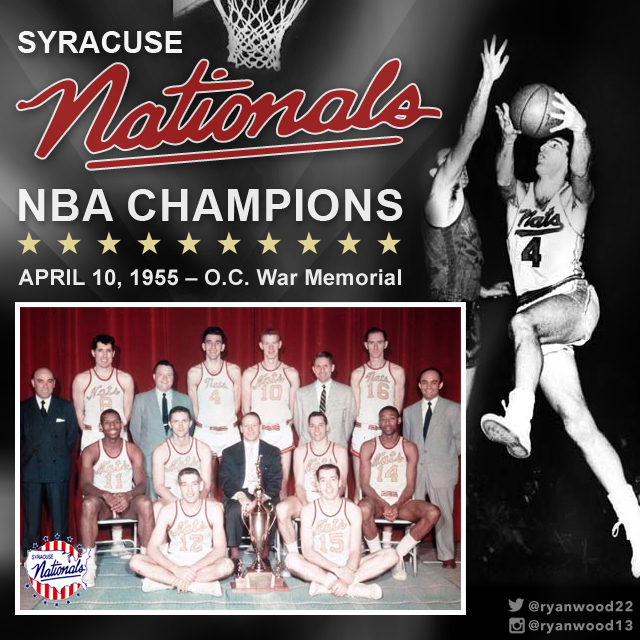 Made to celebrate the 60th Anniversary of the Syracuse Nationals 1955 NBA Championship