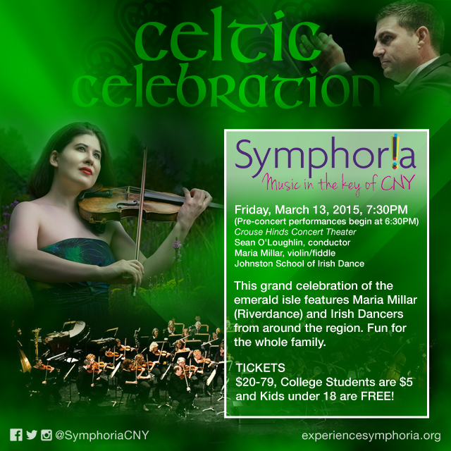 Created to help promote Symphoria's Celtic Celebration concert*.  *Not affiliated with Symphoria but please visit their website to see more upcoming events // experiencesymphoria.org