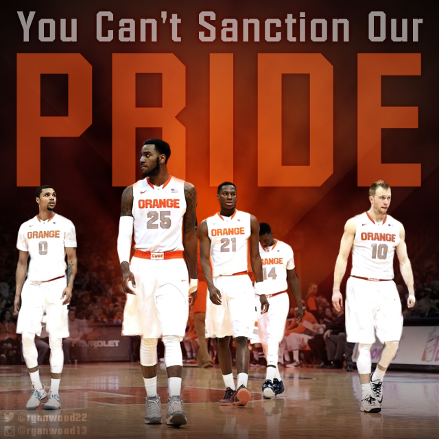 Sports edit graphic I created to support the Syracuse Orange basketball team