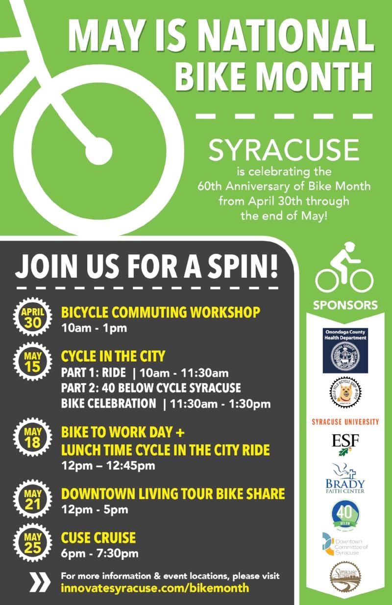 National Bike Month Poster - 40 Below