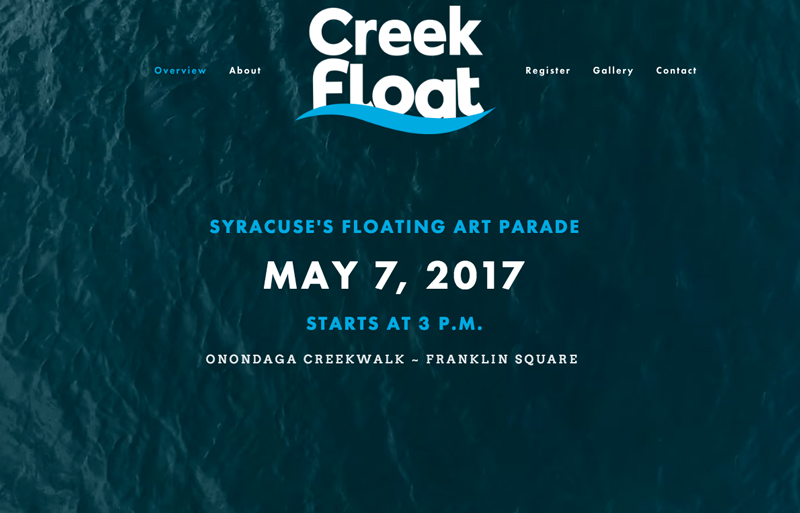 Creek Float Website Landing