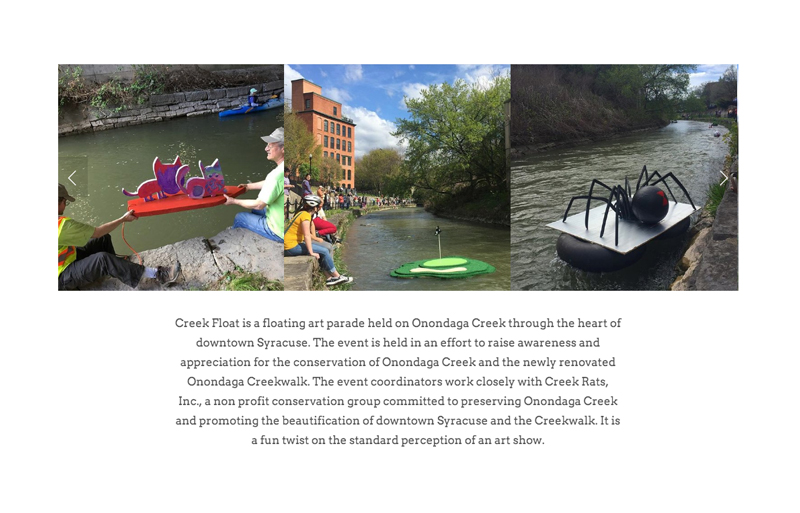 Creek Float Website About Section